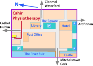 cahir physio map